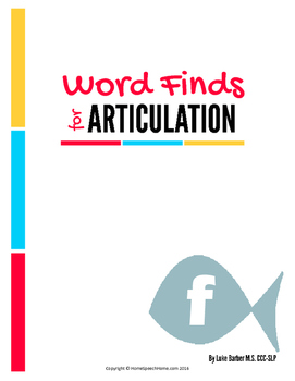 Articulation Word Search - F Sound