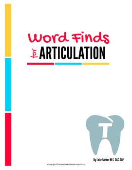Articulation Word Search - T Sound