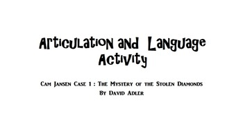 Articulation and Language Activity: Cam Jansen Book 1