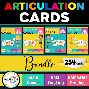 Articulation Card Games Bundle R-L-Ch-Sh