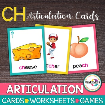 Articulation Cards Games /ch/ sound