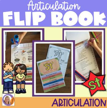 Articulation flip book- 'st' blend