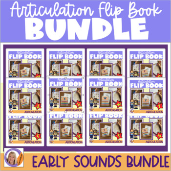 Articulation flip books- b, p, m, n, t, d, k, g & f sounds