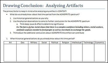 Intro to AGMSPRITE:  Artifact Analysis Practice