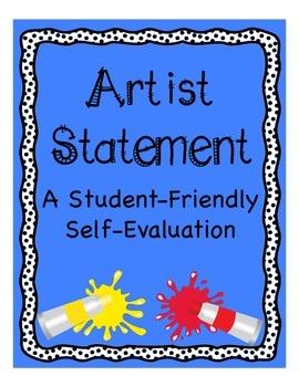 Artist Statement- A Student-Friendly Self-Evaluation