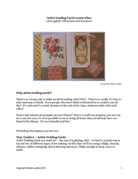 Artist Trading Card Lesson Plan