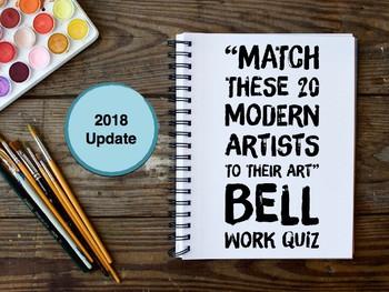 Artist of the Day Identification Quiz (Modern Art themed B