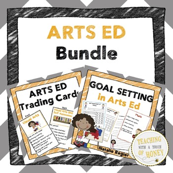 Arts Ed Bundle: Trading Cards, Assessment, and Goal-Settin