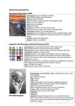 Arts & Humanities Starter Kit Art Analysis Answers