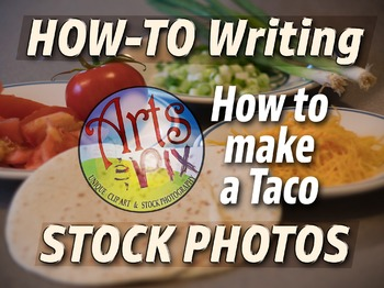 """! """"How to make a Taco"""" photo pack bundle - How To Writing"""