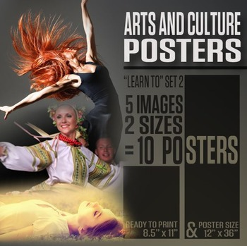 "Arts and Culture Posters (""Learn To"" Series 2)"
