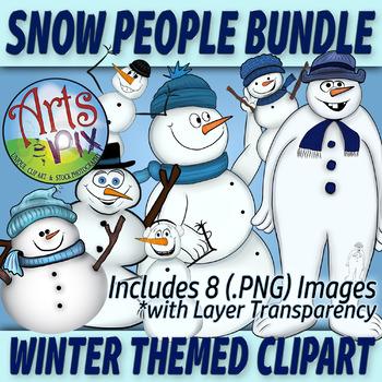 """! """"Winter Snow People"""" Clipart - Snowman - clipart BUNDLE-"""