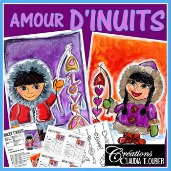 Arts plastiques, Amour d' inuit, St-Valentin, Hiver, en français