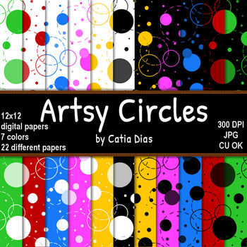 Artsy Circles - 22 Digital Papers
