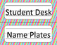 Jubilee's Junction - CHEVRON!! Student Desk Nameplates *Nu