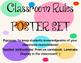 Jubilee's Junction - Classroom RULES / Behavior Poster Set