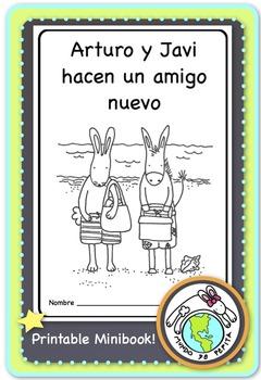 Arturo y Javi hacen un amigo nuevo Spanish Printable Minibook