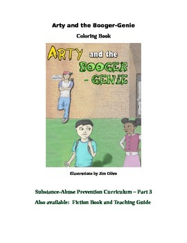 Arty and the Bogger-Genie Coloring Book