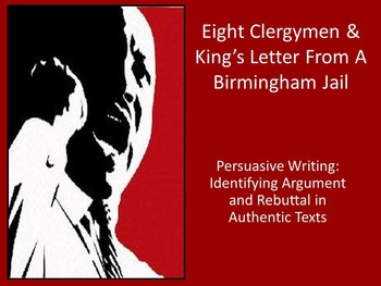 Arugmentative Writing: Teaching Rebuttal with MLK and Eigh