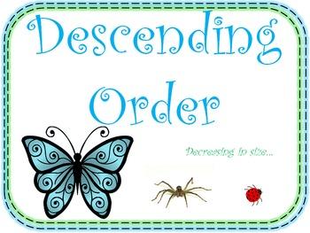 Ascending Order and Descending Order (Math Posters for you