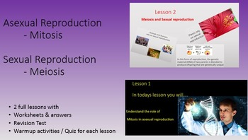 Asexual & Sexual Reproduction Mitosis & Meiosis PowerPoint