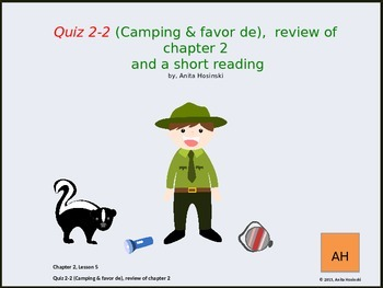 Asi Se Dice Ch 2, Lesson 5 2nd year Spanish:  Camping