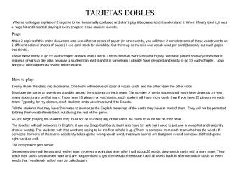 ASD3 Cap5 Vocab Game: Tarjetas Dobles (Así se dice 3)