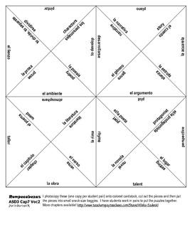 ASD3 Cap7 Vocab 2 Vocab Puzzle Rompecabeza (Así se dice 3)