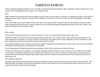 ASD3 Cap7 Vocab Game: Tarjetas Dobles  (Así se dice 3)