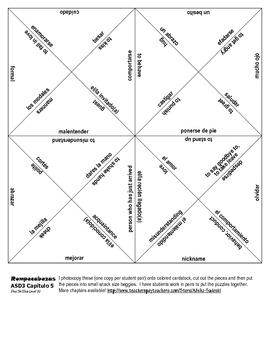 ASD3: 11 Vocab Puzzles!! Rompecabezas for Chapters 1-7 (As