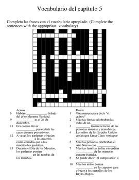 Asi se dice 2 - Chapter 5 Vocab Crossword