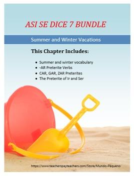 Así se dice Level 1, Chapter 7 Resource BUNDLE Preterite/S