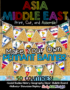 ASIA MIDDLE EAST COUNTRIES CLASSROOM DECOR MAKE YOUR OWN P