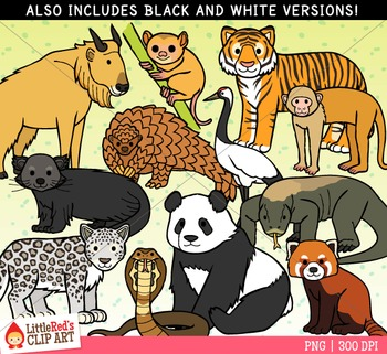 Asian Animals Clipart