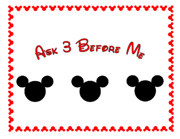 Ask 3 Before Me Disney Theme