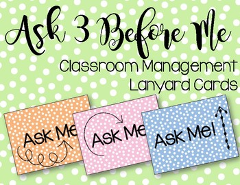 Ask 3 Before Me Lanyard Cards FREEBIE