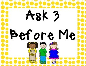 Ask 3 Before Me Yellow