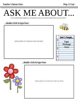 Ask Me About Newsletter Template: September - June Bundle!