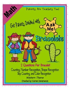 Ask Me! Bracelets - MATH - Get Parents Involved! - Western Theme
