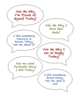 Ask Me! Parent Connection Notes