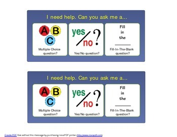 Ask Me a Different Question - Visual Support