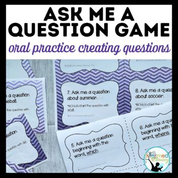 Ask Me a Question Game: Generating Questions