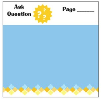 Ask Question Mentor Text Planning Sticky Notes