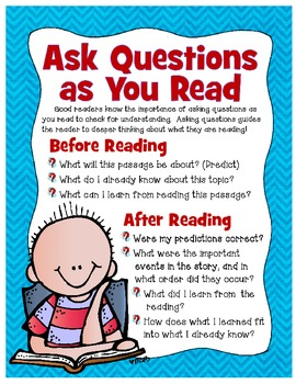 Ask Questions as You Read Poster