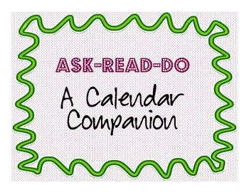 Ask Read Do a Community Building Calendar Companion