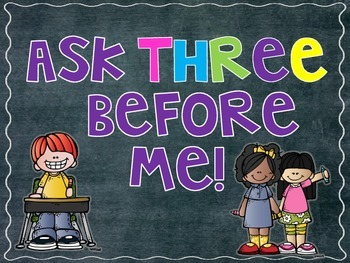 Ask Three Before Me!