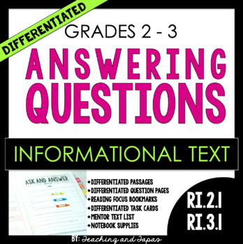 Ask and Answer Questions (RI.2.1 and RI.3.1)