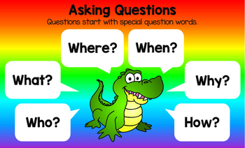 Lively Literacy Asking Questions Poster