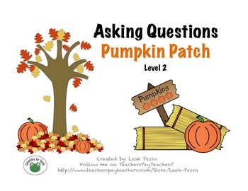 Asking WH Questions Pumpkin Patch Level 2