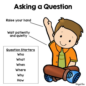 Asking a Question Poster